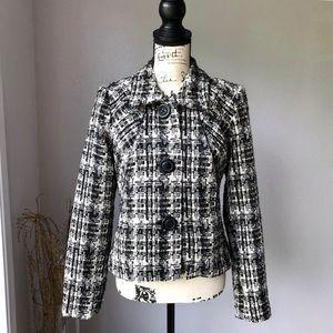 CAbi Tweed Button Up Coat Blazer Jacket 630 Medium